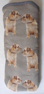 BN- BORDER TERRIERS  GLASSES CASE Ideal small gift