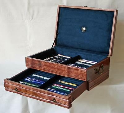 Fountain Pen Chest, #540, Vintage, Hand-Crafted, Holds 44 Pens, Solid Wood, Usa
