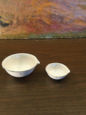 Vintage Coors Porcelain RX Pharmacy APOTHECARY Mortars