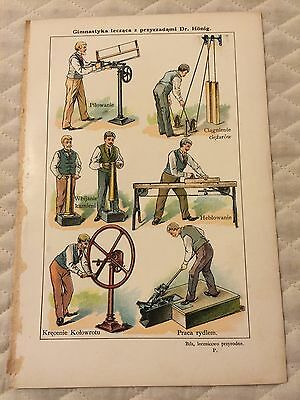 Vtg Antique Polish Book Print Industrial Age MACHINISTS Tools