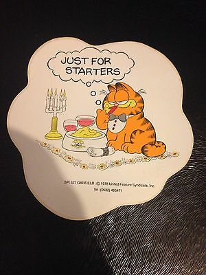 1x Garfield Vintage Car/toy Box Sticker - Just For Starters