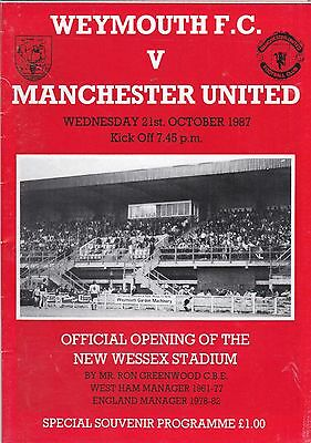 WEYMOUTH v MANCHESTER UNITED 1987/8,FRIENDLY