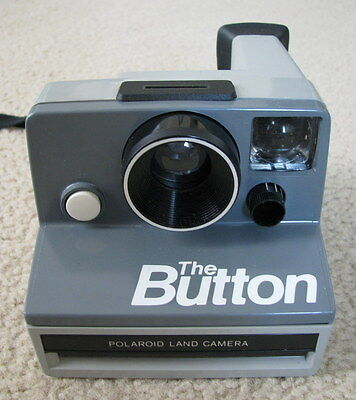 Vintage Polaroid The Button Film Instant Camera    TESTED! WORKING!