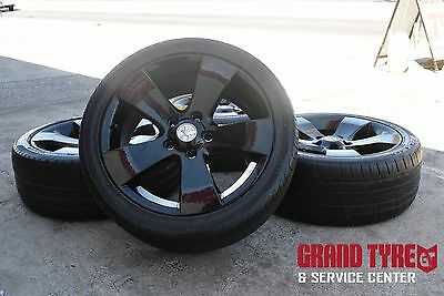"""18"""" Holden Commodore Wheels and tyres Sprayed on black"""