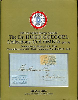 Colombia Kolumbien Specialized Auction Catalog Corinphila 2014