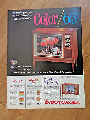 1965 Motorola TV Television Ad Presents the New Generation of Color Television