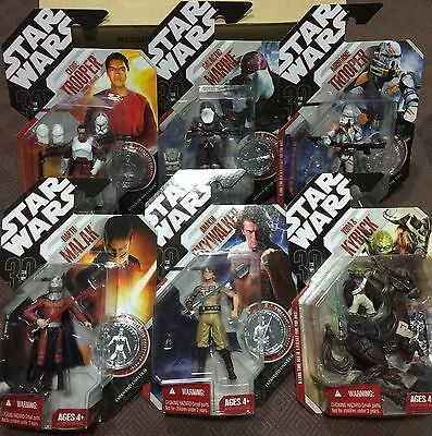 Star Wars Saga Set Of 6 With Coins MIB 2007