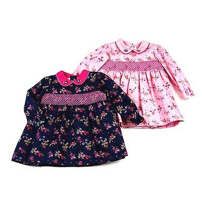 Baby Girls Romany Traditional Style Floral Smocked Dress by Sweet Elegance