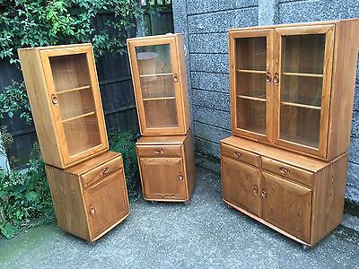 Very Rare Collection Of Ercol Windsor Display Cabinet/bookcase 2-Man Delivery