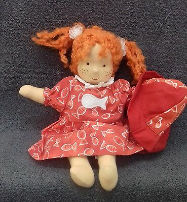 NEW Kathe Kruse Waldorf  Doll 10 inches Red Hair