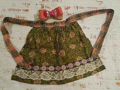 New Matilda Jane Child's Toddler Apron One Size NWOT plus new handmade bow lot