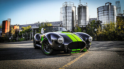 1965 Shelby Backdraft RT3B completed by Vintage Motorsports NEW BACKDRAFT RT3B 575HP VMS 427 8 STACK FUEL INJECTION TKO BLACK GREEN STRIPES