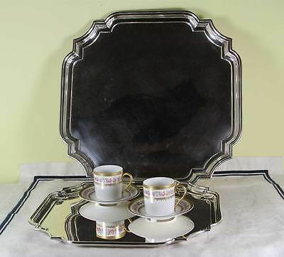 Silver Square Salver, Chippendale Shaped Corners 12 in.