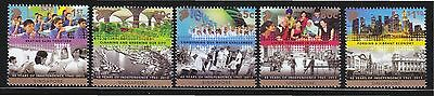 Singapore 2013 48 Years Of Independence Comp. Set Of 5 Stamps In Mint Unused Mnh