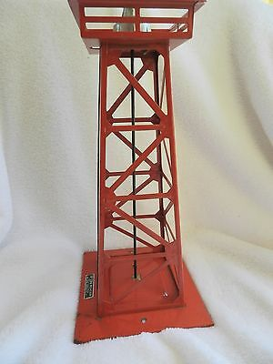 LIONEL POST-WAR 394 BEACON TOWER - RED  Great Add to your layput Rustic L@@K!!