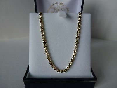 NEW, 9ct 9carat Yellow Gold Rope Chain, 18 Inch