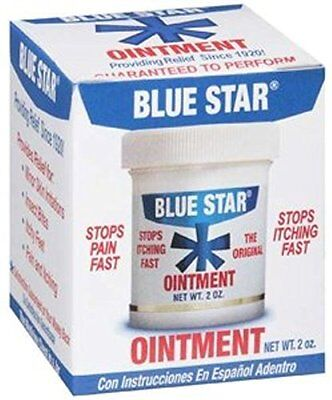 6 Pack Blue Star Anti-Itch Medicated Ointment 2 Oz Each