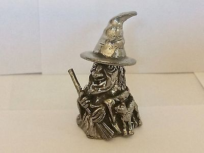 An English Polished Pewter Thimble of an Old Witch