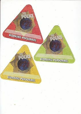 POLICE backstage pass tour SATIN cloth SET WORKING collectible
