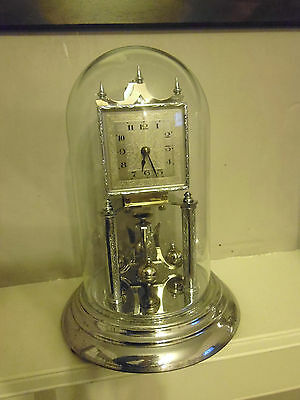 Chrome Early/mid 20Th Century 400 Day Anniversary Clock.working