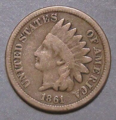 1861 Cn Indian Head Cent Pleasing G