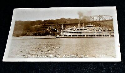 "RPPC - Elks Excursion Boat ""Capitol"" at Hudson, Wisconsin Vintage Postcard"