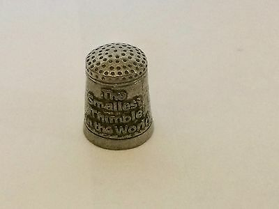 The Smallest Pewter Thimble in the World