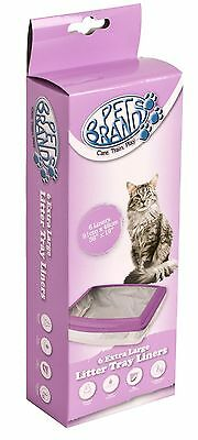 Pet Brands Cat Litter Liners Ex-Giant 1 box contains 6 liners Pack of 6