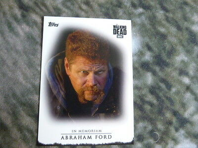 Walking Dead Season 7 In Memoriam Trading Card Abraham Ford Topps Exclusive