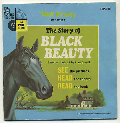 "Walt Disney's Story of Black Beauty (1968 7"" + 24 Page Colour Book. LLP 318)"