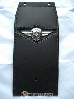 Harley Davidson Fat Boy Concho Leather Tank Leather Console Panel 91134-01