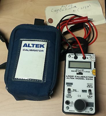 Altek Model 334A Milliamp Loop Calibrator with Case