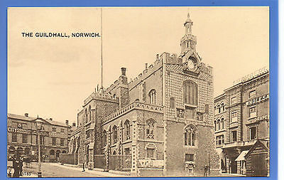 Old Vintage Postcard The Guildhall Norwich Norfolk