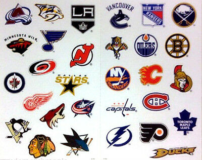 NHL Logo Stickers Decal Licensed Product All 30 NHL Teams