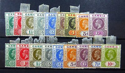 GAMBIA 1912/22 SG86/94,  -  108-116 Mounted Mint NEW LOWER PRICE FP8618