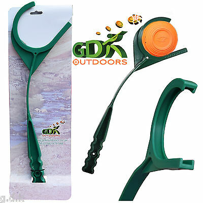 GDK HAND CLAY THROWER, GREEN HAND THROWING CLAY TARGET, CLAY PIGEON, *hand*