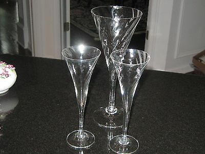 LOT OF THREE (3) (5) Orrefors HELENA GLASSES--1 WATER GOBLET AND 2 SCHNAPPS