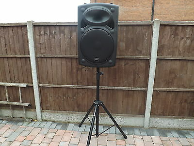 """QTX 15"""" active PA Loud speaker 400w with stand"""