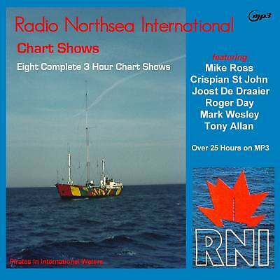 Pirate Radio RNI EIGHT Chart Shows on MP3 DVD Disc OVER 25hrs ! on MP3 DVD Disc