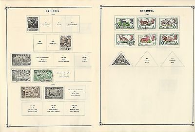 Ethiopia Collection on Scott International Pages 1950-1962