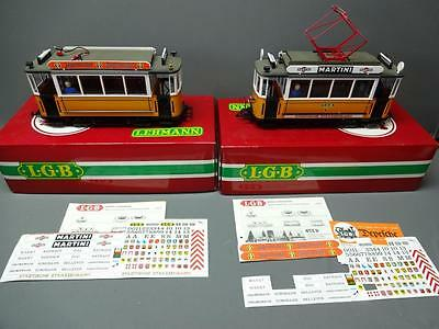 Rare LGB G Scale 2035 & 3500 Yellow Trolley Locomotives Trams Trains W/ Decals