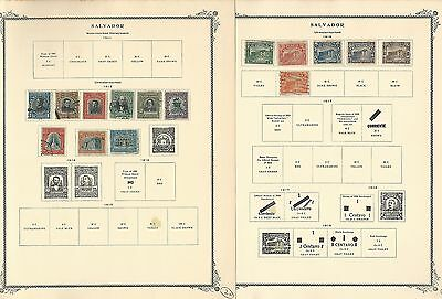 Salvador Collection 1867-1974 on Scott Specialty Pages, Around 50 Pages