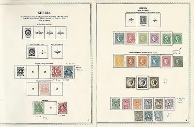 Serbia Collection on Minkus Specialty Pages 1866-1943, 25 Pages, High Cat Value