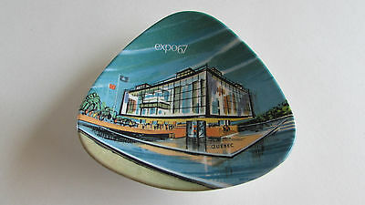 Vtg Montreal Expo 1967 Color Litho Ashtray Mid Century