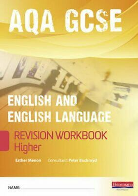 Revise GCSE AQA English/Language Workbook - Higher by Esther Menon 9780435027278