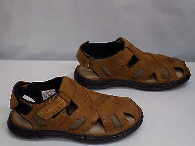 Hush Puppies RELIEF FISHERMAN Mens Copper Leather Sandals Size 10 M