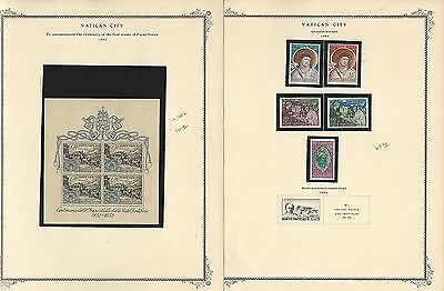 Vatican City Collection on 12 Scott Specialty Pages, 1953-1961