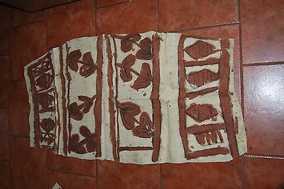 Decorated Tapa Cloth collected in the 1960s - Papua New Guinea