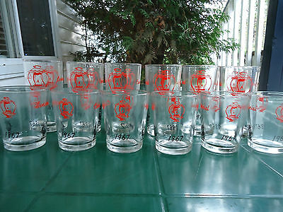 12 DRINKING GLASSES  CANADA EXPO? CENTENNIAL 1867 1967 6 TUMBLERS  6 juice (#66