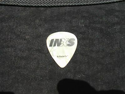 1997 Inxs Elegantly Wasted Concert Tour Custom Pearl White Guitar Pick Rare